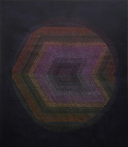 Marta Marce: Tabula Rasa (circle/indigo), 2019