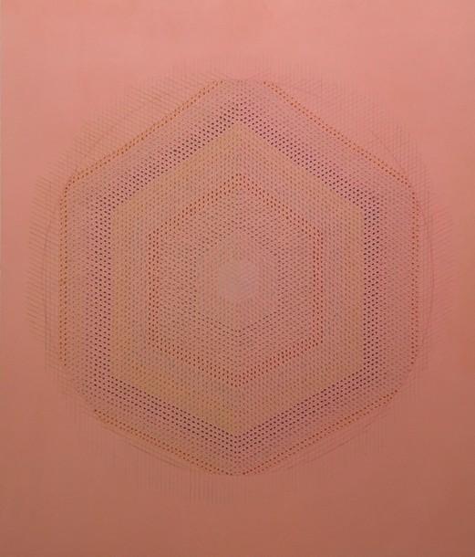 Marta Marce: Tabula Rasa (circle/pale pink), 2019