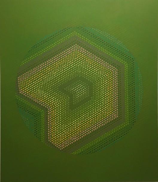 Marta Marce: Tabula Rasa (circle/ green), 2019