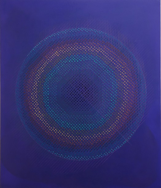 Marta Marce: Tabula Rasa (circle/ violet), 2019