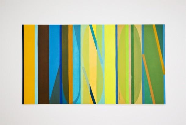 Projects Punto . Aparte / IKI 1. 100 x 180 cm. Acrilic on canvas