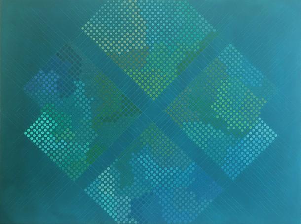 Marta Marce: Tabula Rasa (dark turquoise), 2018