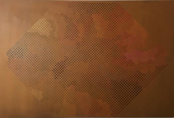 Marta Marce: Tabula Rasa (browns in cercles) , 2018